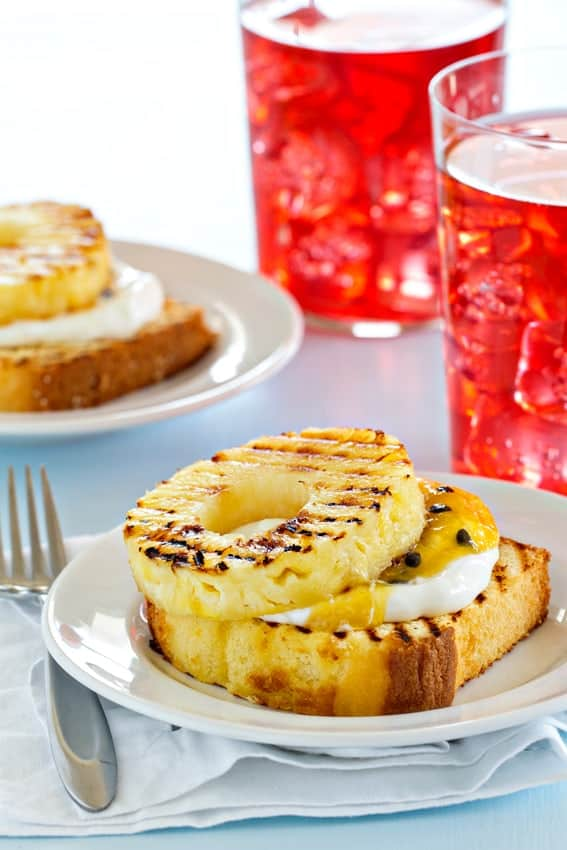 Grilled pound cake with pineapple couldn't be easier or more delicious ...