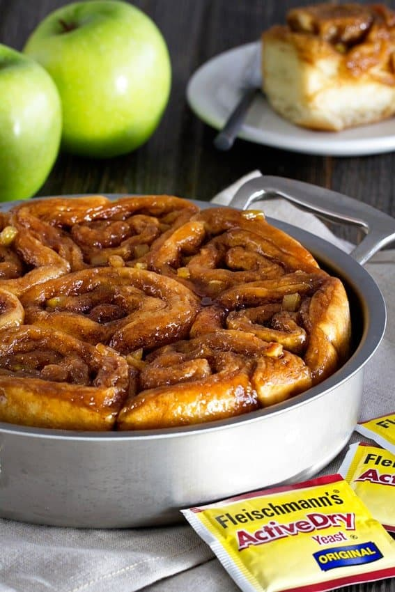 them up with apples and filling. The dough will rise, freeze, and bake ...