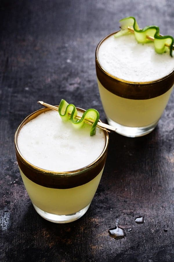 Cucumber Gin Fizz has a cool, bright flavor. A great cocktail to enjoy ...