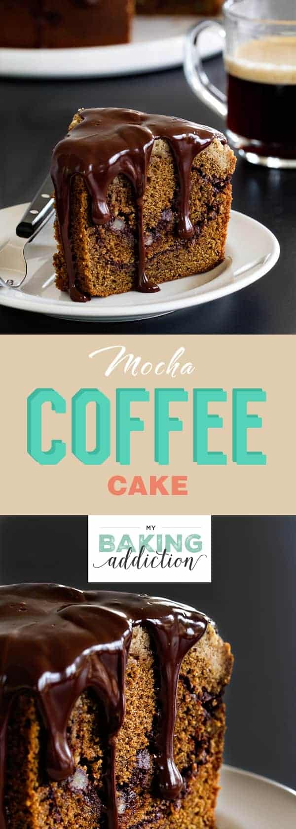 Mocha Coffee Cake is swirled with chocolate and topped with an ...
